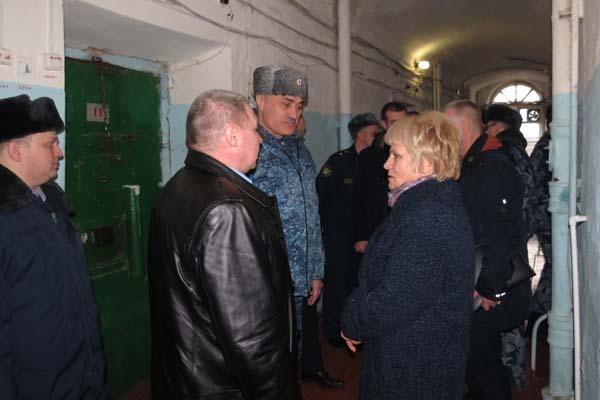 СИЗО-2 УФСИН России по Тверской области посетили региональный Уполномоченный по правам человека, представители прокуратуры и ОНК